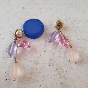 Vintage pastel dangling earrings